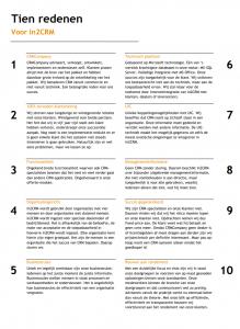 Tien redenen voor In2CRM